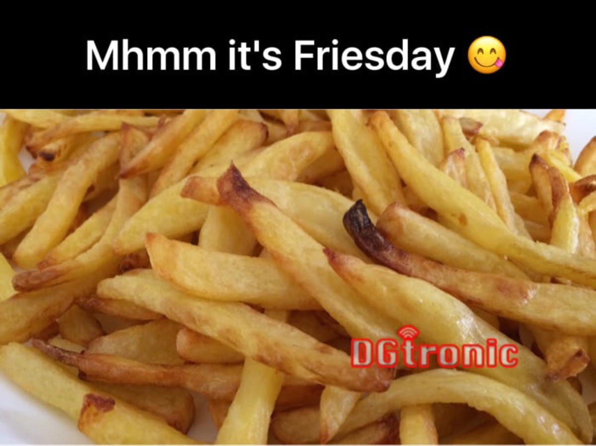 today is Friesday !!!. . lillie/ '' trat it' s Friendly (ll). Those fries look soggy as and of poor quality. Jezus christ at least post some nice looking ones. Pic related, absolute minimum quality.