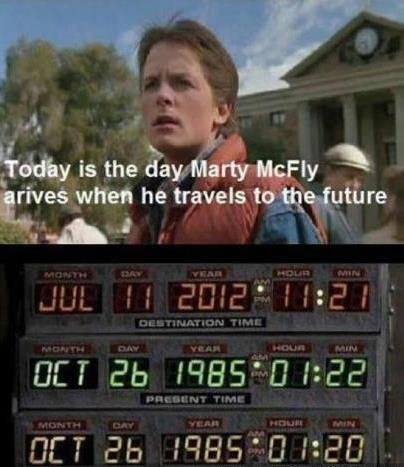 today was the day. .. Marty never went to 2012
