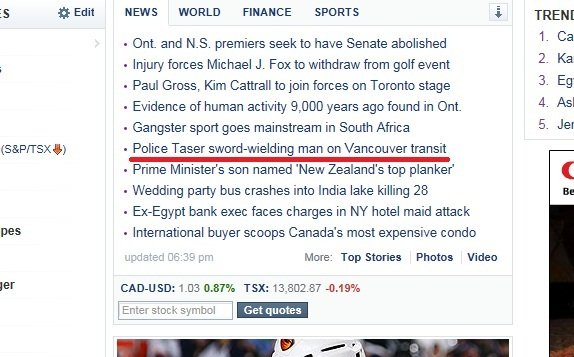 """Today In The News. 100% crunch OC, I jyst found it on Yahoo this morning in business.. 35 it Edit ler NEWS W"""" ] FIRAH CE SPORTS AII Ont and NS. premiers seek to"""