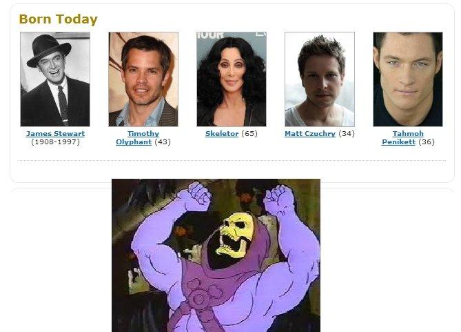 Today is Skeletor's birthday. Heeeeeeeeman!. Barn Today Skeletor (Etti) Flatt (EM) Tarmor James Stewart