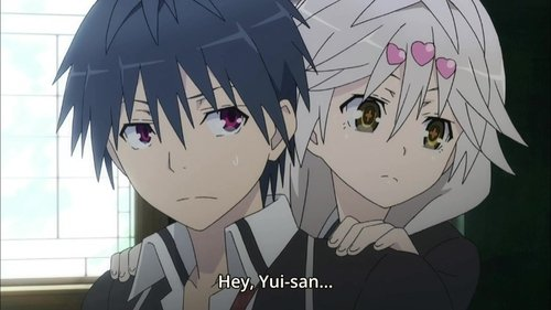 Too close for comfort. Yui best girl Sauce: Trinity Seven.. Well, she's not one for subtlety.