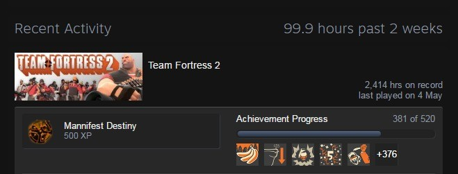 Too much? what achievement is that?. . Team Fortress 2