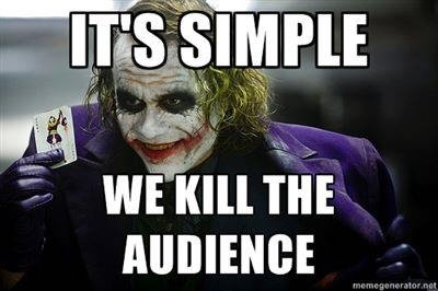 too soon?. description.. You're just a joker! Get it! Joker! Huh! Get it! It's funny because.... oh it. I'm not funny...