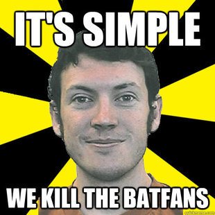 too soon?. .. Did you know batman was there and didn't do a single thing?