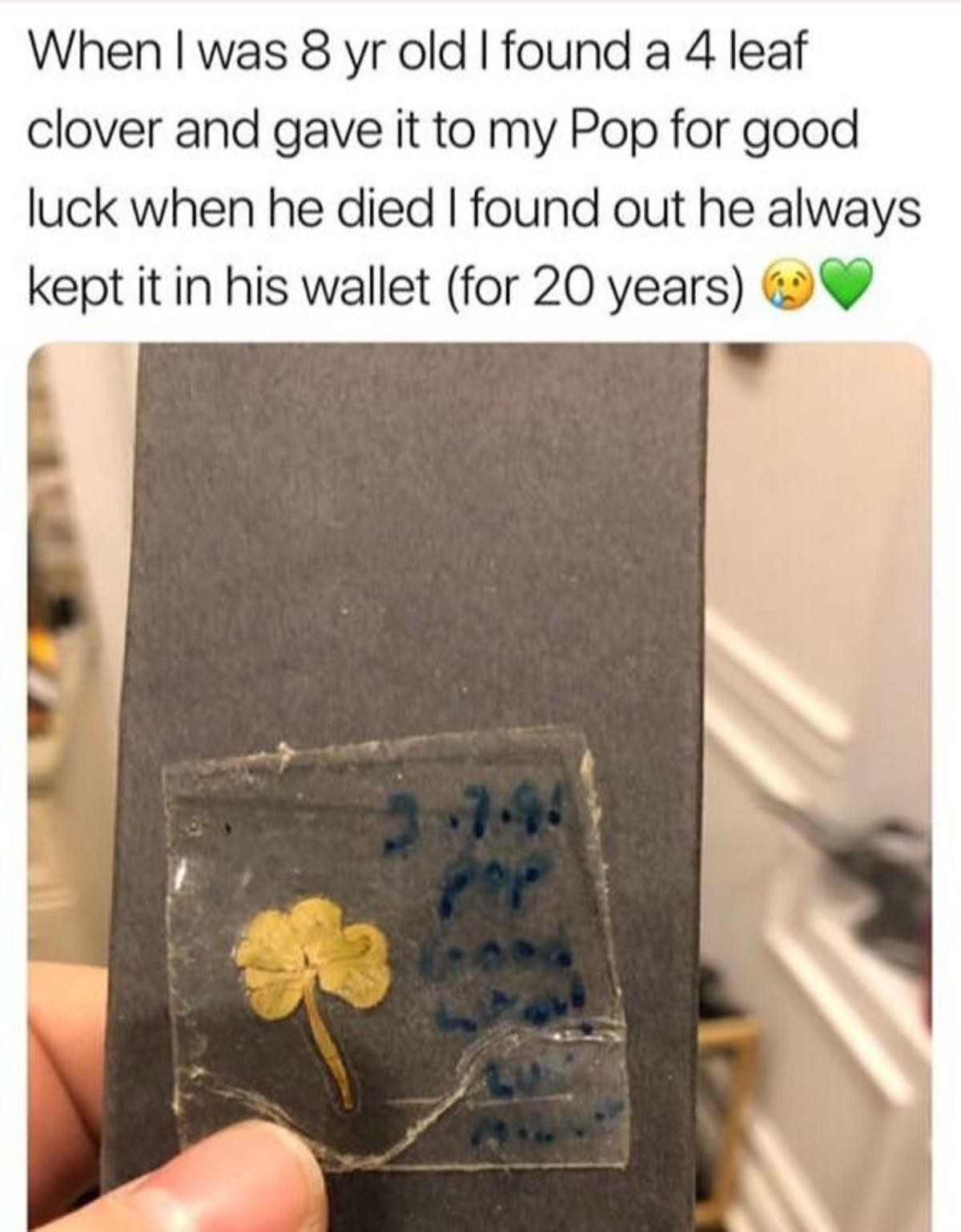 Too wholesome. My heart.. And now he has a precious family heirloom to pass down.