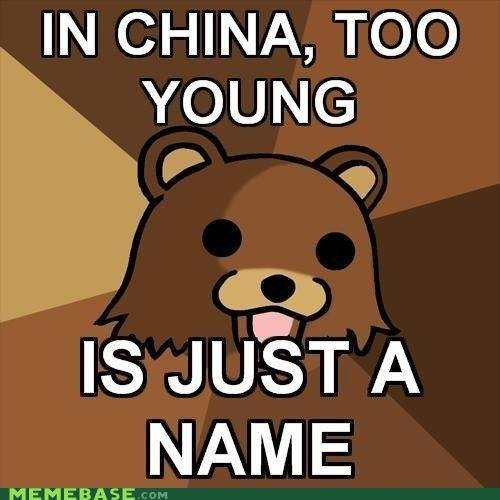 Too Yung. LULZ. IN CHINA, TOO. Yes, but it would be spelled Tu Yung