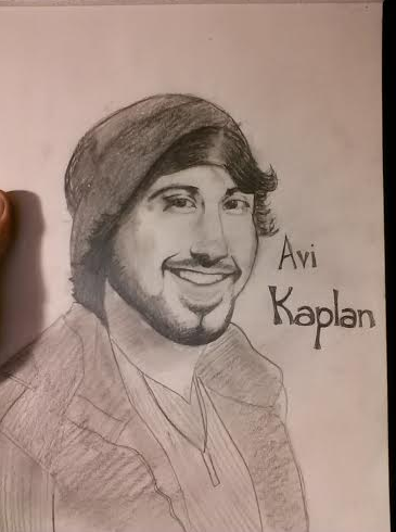 Took a metric ton of time. A little drawing I did of Avi Kaplan, the bass of Pentatonix. I'm open for criticism, if it's out there... Not bad. A little more detail on the clothing would help.