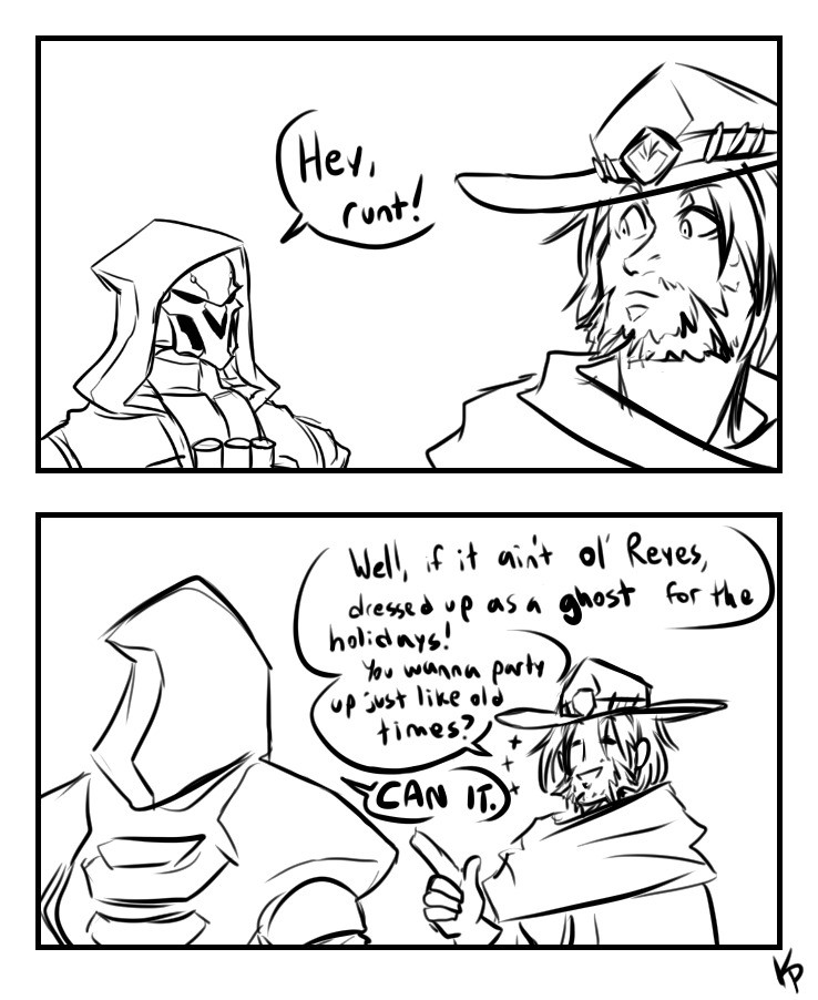 Trash Cowboy. . MI dorb' q tatses?, ,1 I. omfg, this artist actually drew a different picture of Reaper. What is this?