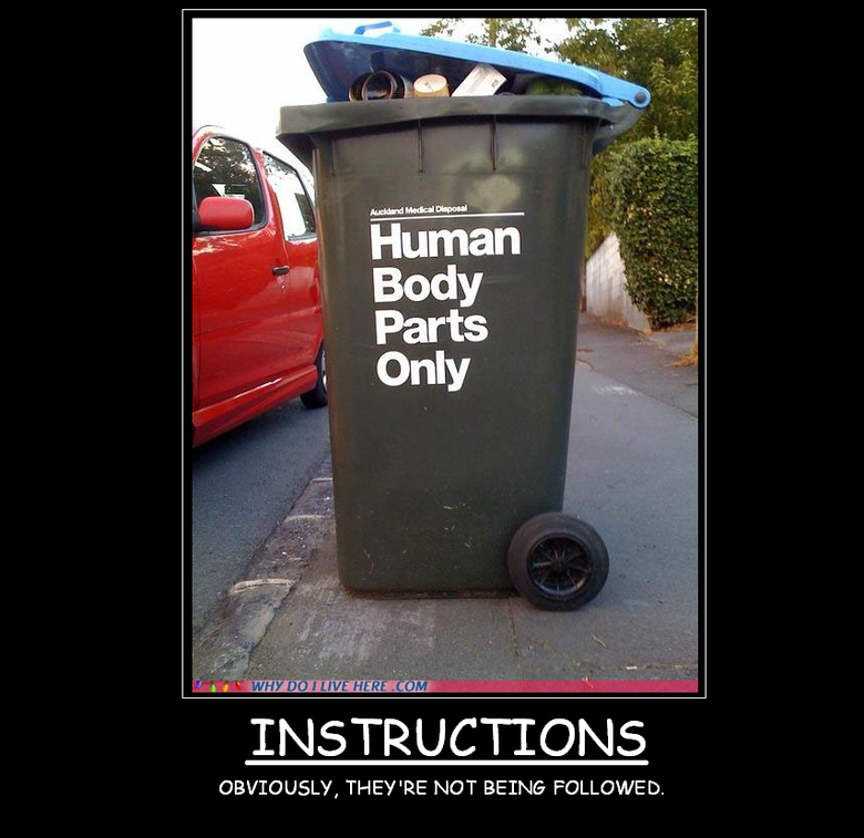 """TRASH CAN. Comment and Rate<br /> thanks to loke ( <a href="""" target=_blank>funnyjunk.com/user/loke</a> ) for the quote for this demotivat"""