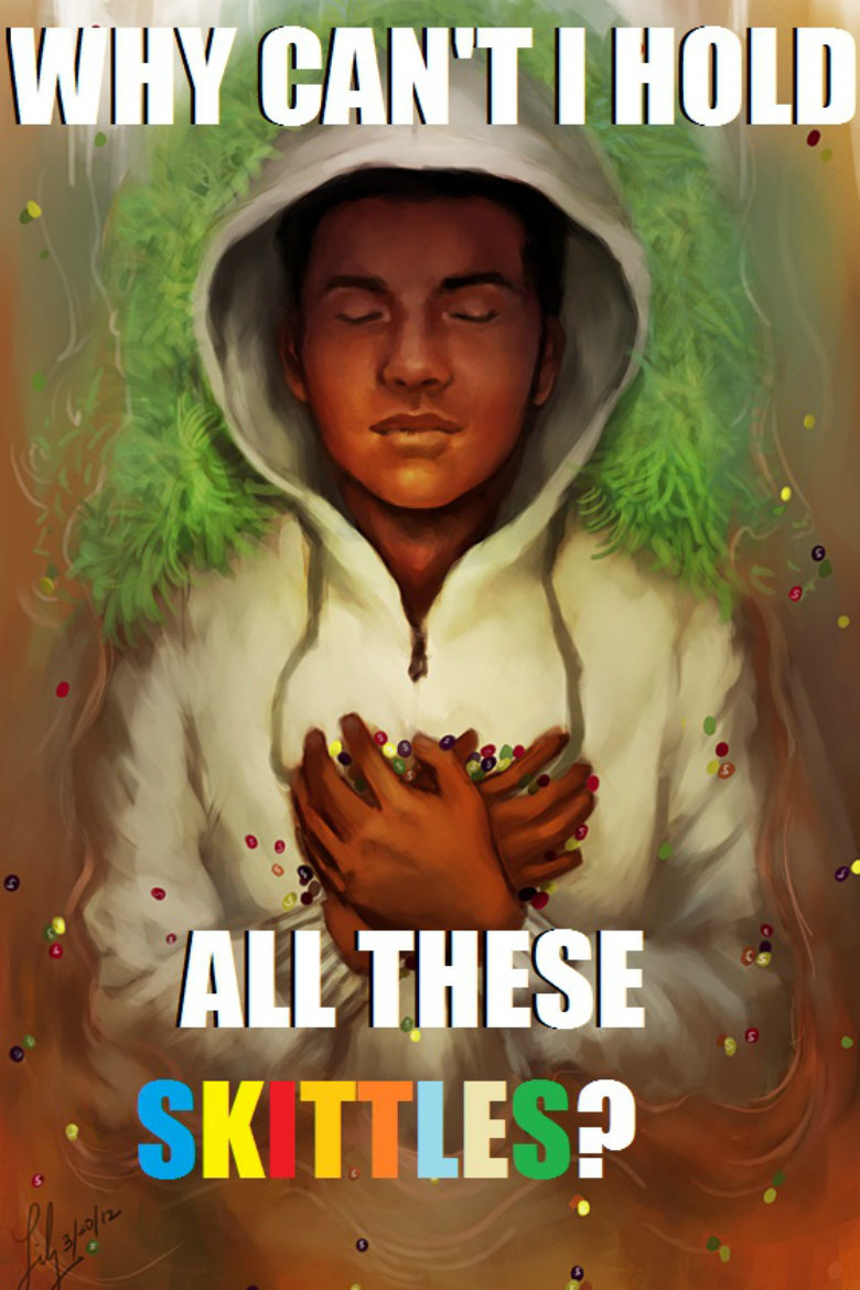 Trayvon Martin. He's tasting the rainbow in heaven... don't feel bad for a gang banger who got shot after beating someone up... happens...