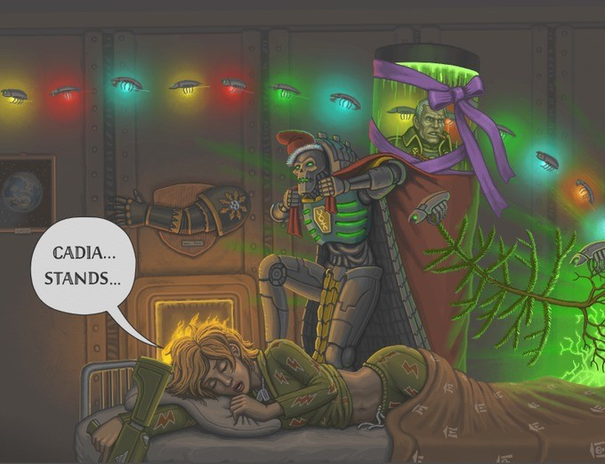 Trazyn performing end of year Terran ritual. .. The Necron who Stole Christmas. The Necron whe Stole God-Emperormas.Comment edited at .