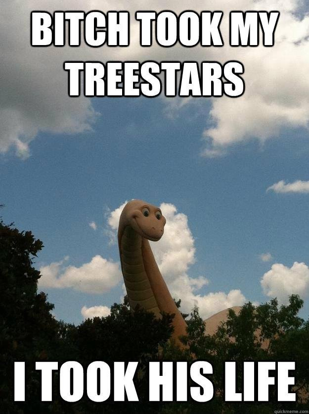 Tree Stars. It Say's Quick Meme In The Bottom Cause I Made It On There, and I Guess You Can't Just Save It And Put On FJ, I Had TO Upload It To Facebook, And TH