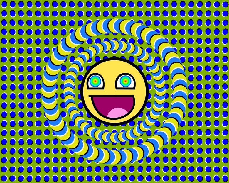 Trippy. Stare and watch it move!.. i watched this then looked at that DUUUUUDE