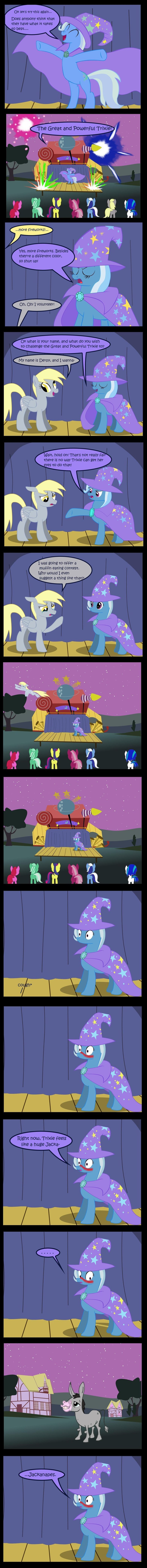 Trixie vs. Derpy. Made by Evil-DeC0Y on deviantart... its ok derpy the doctor is here for you