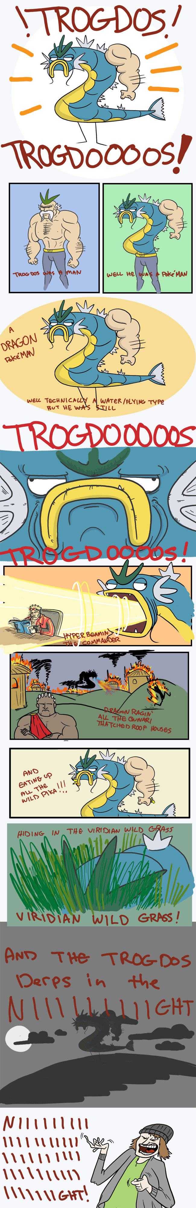 """Trogdoooooos. I am filled with lol at this. Art is by Nekoama <br /> and the image can be found here: <a href="""" target=_blank>thepunchlineismac"""