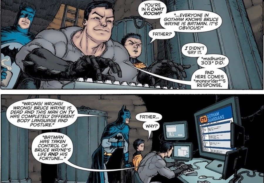 Troll Batman. .. That's actually good op-sec though, it's what the do.