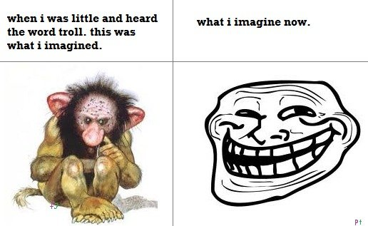 troll. i. when i was little and heard what i imagine .. the ward trail. this was what i imagined.. what i picture now!