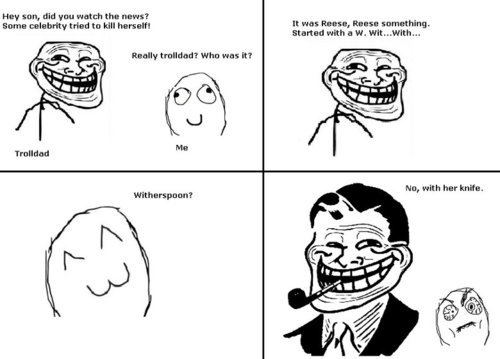 "troll dad comic. . Fir 'Hm, lid: gnu ""atee the ""mot Mn, with luv knit."