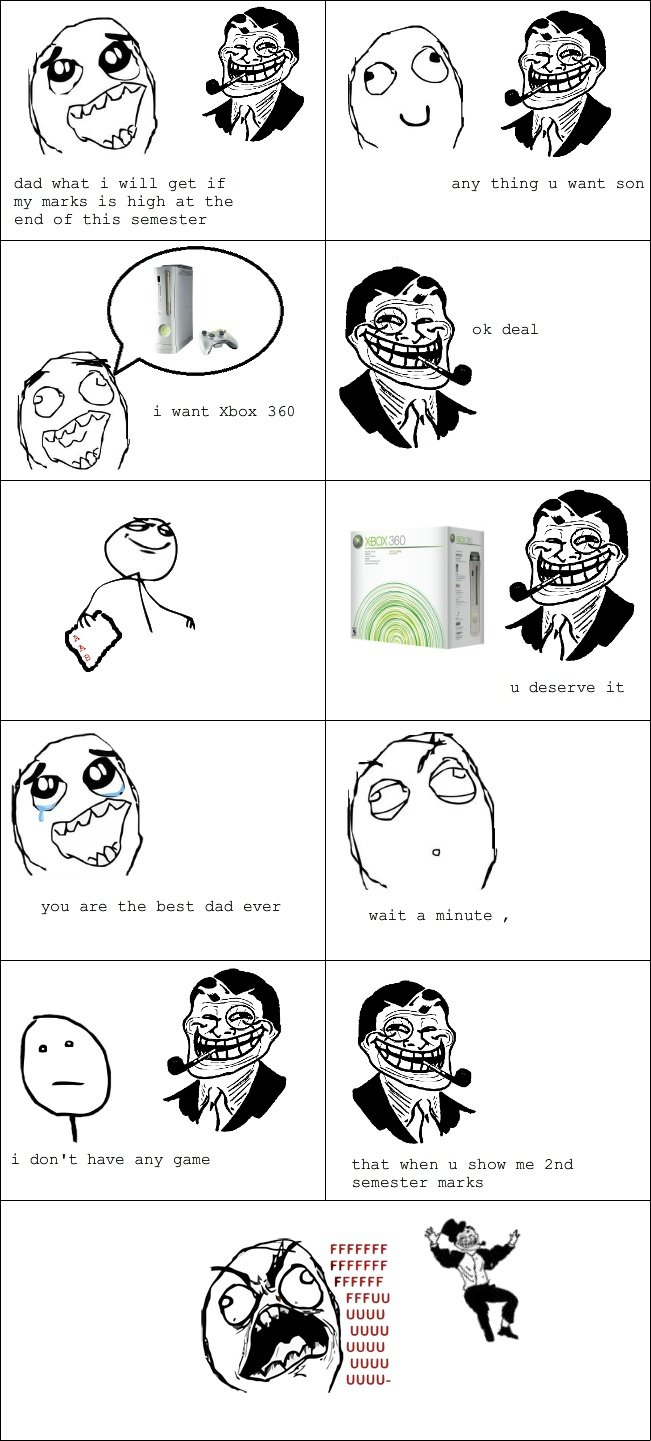 troll dad (Xbox 360) OC. OC sorry if it has a nazi G , am learning english check my profile for more comics. dad what l will get if any thing u wane my marks ls