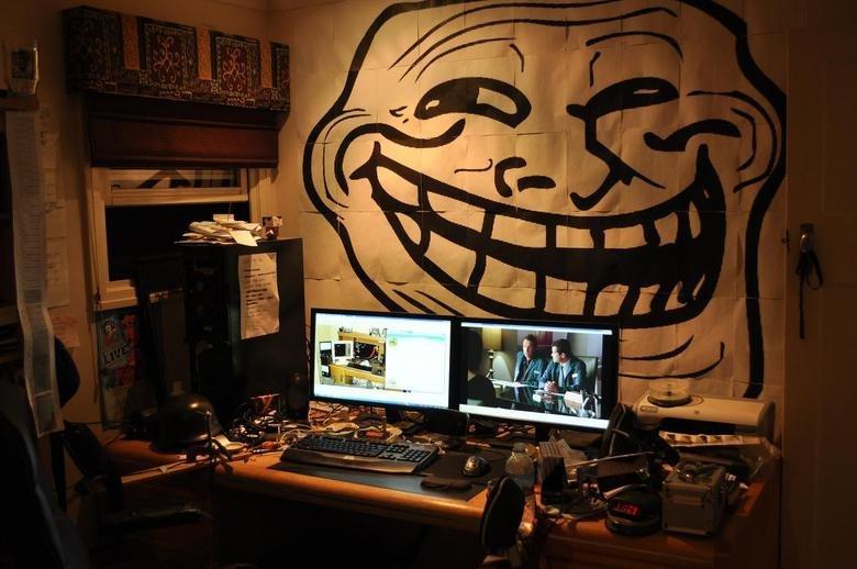 Troll Battlestation. My friends room... the chosen one...