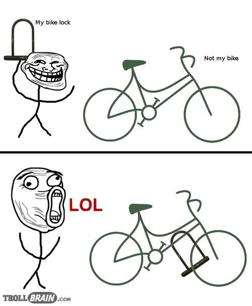 Troll Bike. . My bike luck