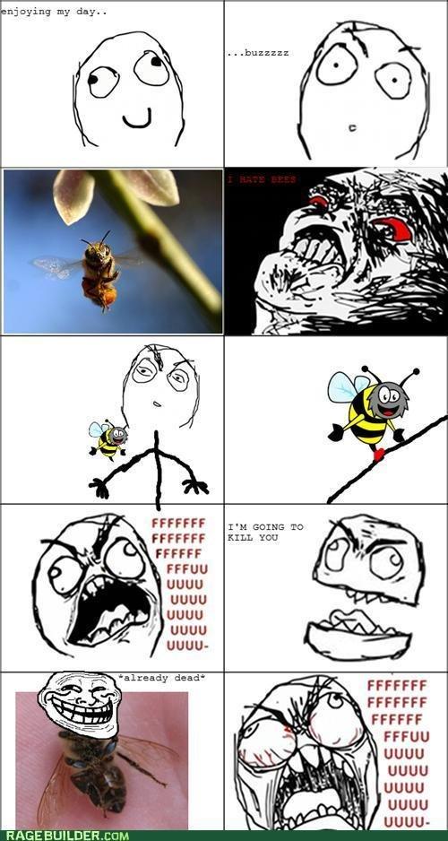 Troll Bee. God Damn bees!. nnoying my dny.. ffii) j Ci) war FFCCFF FFCCFF UGUU UGUU UGUU UGUU UGUU-