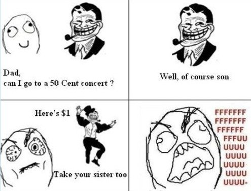 """Troll dad """"50 cent"""" concert. . FFCCFF UGUU UEHU UGUU' UGUU"""