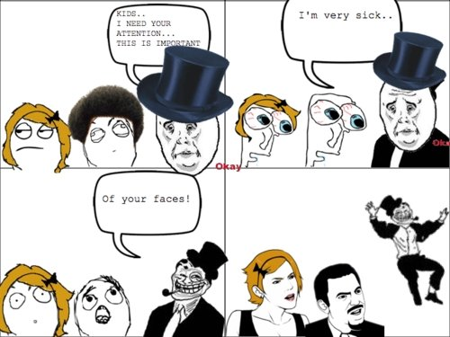 troll dad. . 1 NEED wean yuur faces!. so simple yet so funny....thumb for you