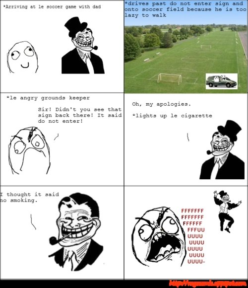 troll dad comic. . it It 'outlet Pith Eli ale angry keeper oh. my apologies. Sir! Didn' t you an: that sign back there? It said 'lights up cigarette db not anda