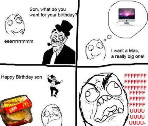 "Troll dad ""Big mac"". . want far your birthday FFCCFF UGUU. At least it isn't overpriced."