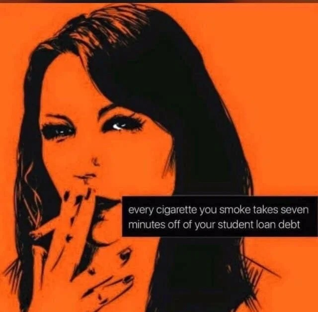 tru. .. Whoa now, it's against the law to directly advertise cigarettes like this.