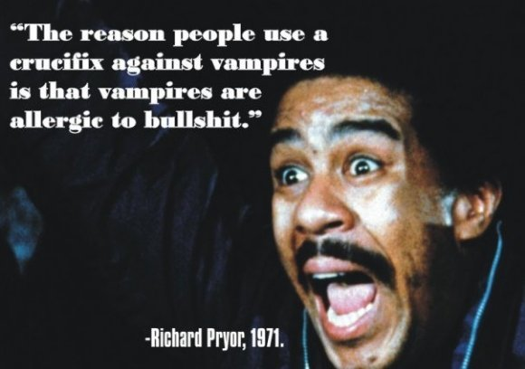 """tru dat. dedz to 9gag. The reasen people use a crucifix against vampires is that vampires are to bullshit."""" .. <--------------"""