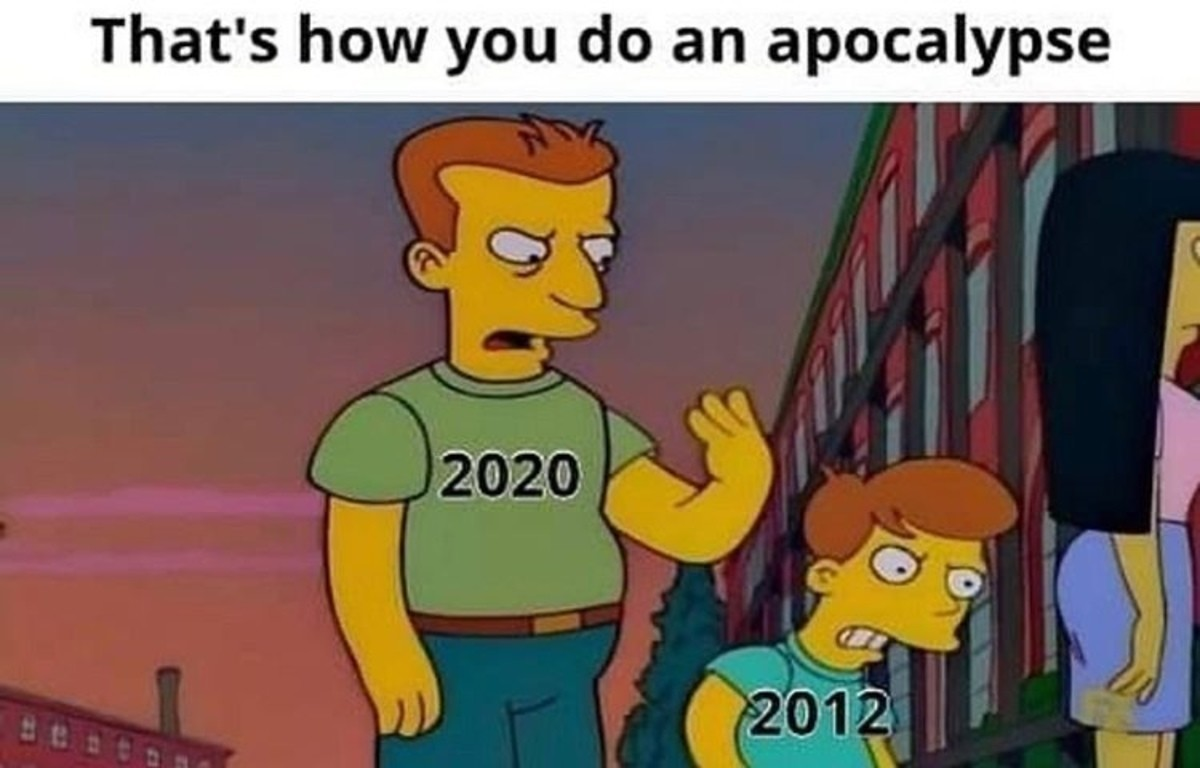 truculent intemperate slim Hyena. 2020 IS the 2012 Apocalypse. It started on 21 December 2012 (could've started on 2010 or 2011) but 21 December 2012 was the de