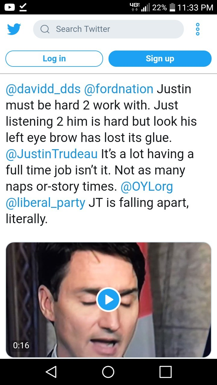 Trudeau fake eyebrows lmao. Video . ii) (ii) firenation Justin must be hard fl, work with. Just listening 2 him is hard but look his left eye brow has lost its