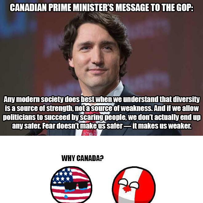 """Trudeau rekts the GOP. . MIME MINISTERS MESSAGE TO THE MP: Mg 50618"""" """"DES PM ' startd that Is tta strength, SEES tta . Mill If PM tta Elli staring . WE Mn' t an"""