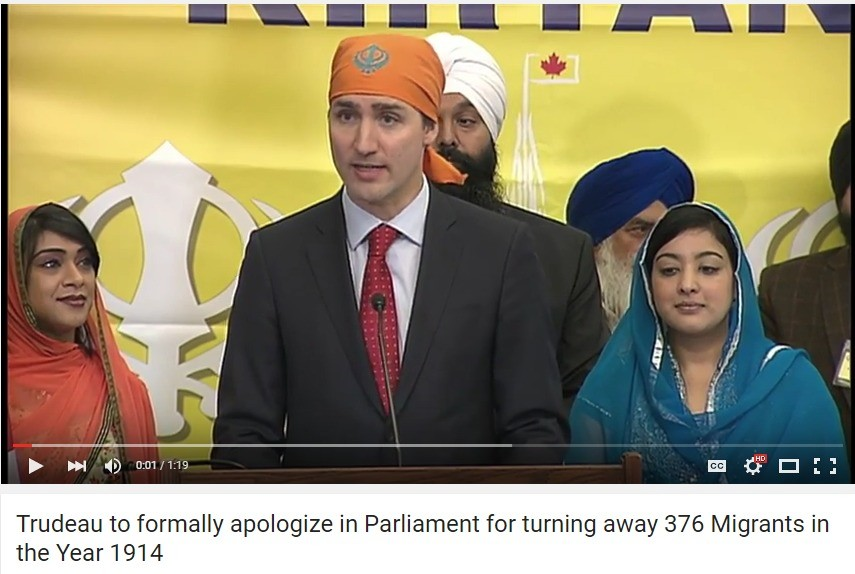 trudeau. . Trudeau he apologize in Parliament fer turning away 376 Migrants in the Year '. He has ascended beyond cuckoldry. This is territory I don't even wanna touch.