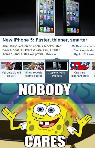 """True. Android phones > iPhones. New iphone 5: Faster, thinner, smarter MMOM"""" and e sleeker Price n - Plight Bi . MII, MI big gift Sh teh . Apple unveils we a"""