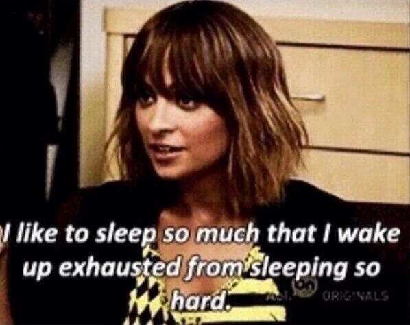 "True. SWAG. like to sleep '30 that! wake up exhausted "" i' viii sleeping so paj. who is that?"