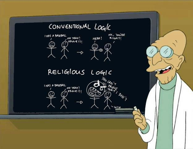 True Dat. Couldn't agree more! Too accurate.. agar;. That's not religious logic. That's fanatic logic.