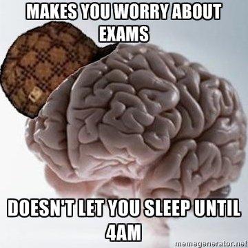 True dat. I hate exams.