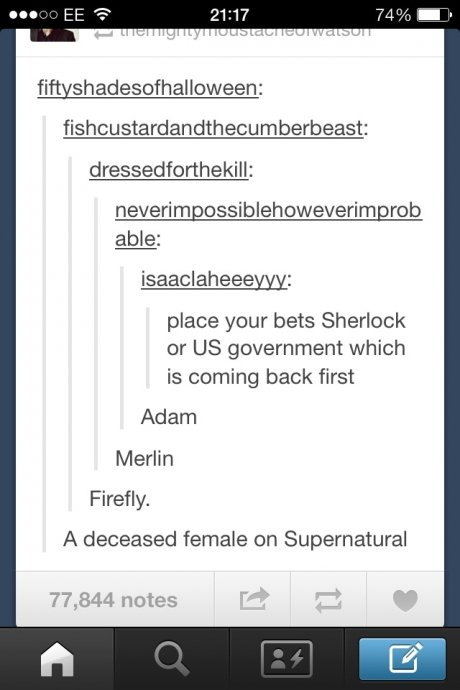 True dat. . dressiest: : isaacc_ : place year bets Sherlock er US government which is earning back first Adam Merlin Firefly. A deceased female an Supernatural