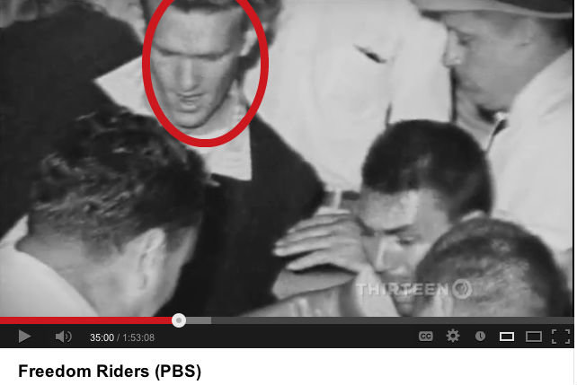 True Doctor. Look Who I found, beating up a Freedom Rider in 1961.. Freedom Riders {PBS}. Randy Orton?