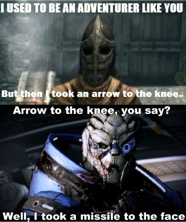 """True Fact for you skyrim noobs. If you don't thumb up you obviously don't get the joke so you should all fall in a hole. . BE """" lamkat' rimial HIE """"Ill Arrow to"""
