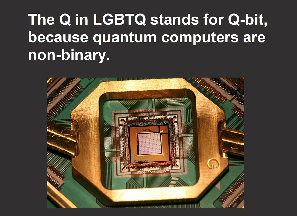 "True Facts. Imagine having a non-binary cpu... This message made by Amd & Intel gang... Shouldn't it be ""Made by Amd & Intel gang"" not ""approved by""? Get it right!!!"