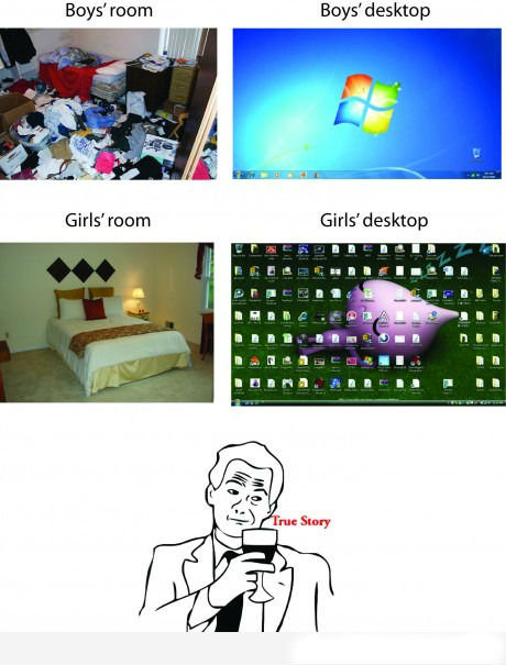 True Indeed. Read first and last tag.. Boys' room Boys' desktop. you could make the same point about internet history