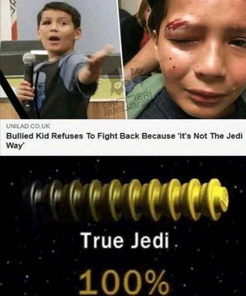 True Jedi. .. The jedi 100% fought back like at all points in the entire 10,000+ year history of the order...