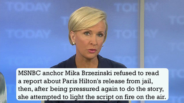 True Journalist. maybe expect for the trying to start the fire. MSNBC anchor Mike Brzezinski refused he read a report !l? t' emre. Paris Hilsen' e release teem