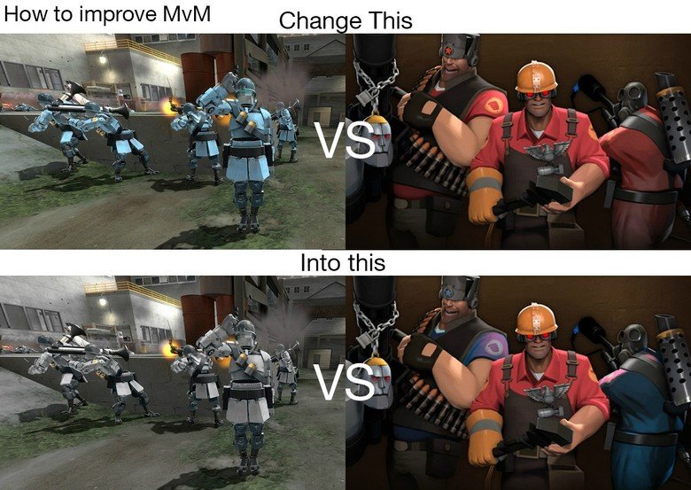 true. Now before you say that Valve cant since people will mshoot each other, what if, now what if, the red team has randomized skin textures or each class can