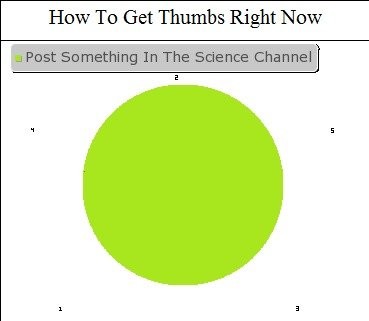 True. OC, forgot to put in the science channel the first time.. How To Get Thumbs Right Now. This Science channel is the next over used channel. first there was ponytime then morbid channel then bendingtime then morbid channel comes back from the dead.