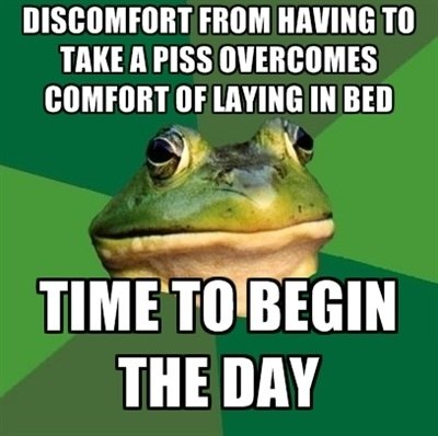 true. . FROM HAVING TO THEE ll PISS ttf Ill BED up r A was we um!. i have that feeling now
